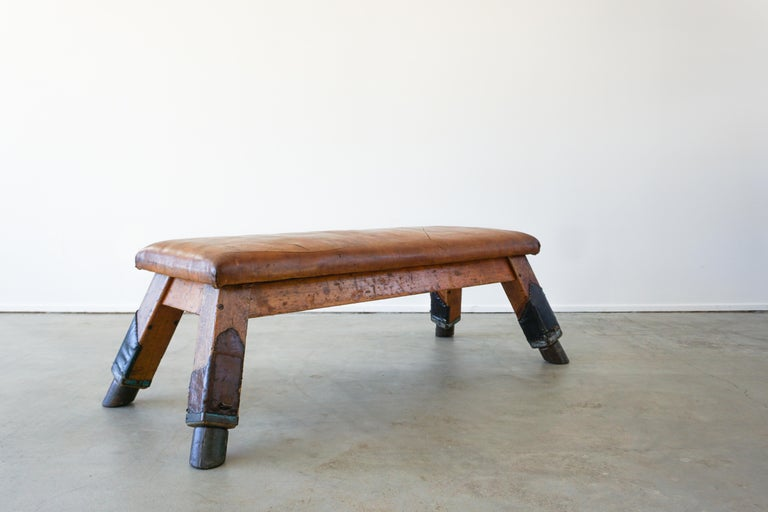 1930s Belgian Gym Bench For Sale 4