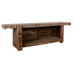 1930s Belgian Wooden Work Table