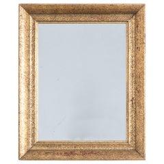 1930s Belgium Gilded Wooden Mirror
