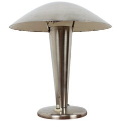 1930s Big Bauhaus Brass Table Lamp
