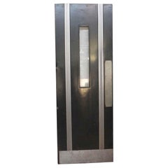 1930s Black Art Deco Door with Window