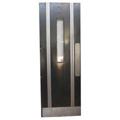 1930s Black Art Deco Door with Window from the Hayden Planetarium