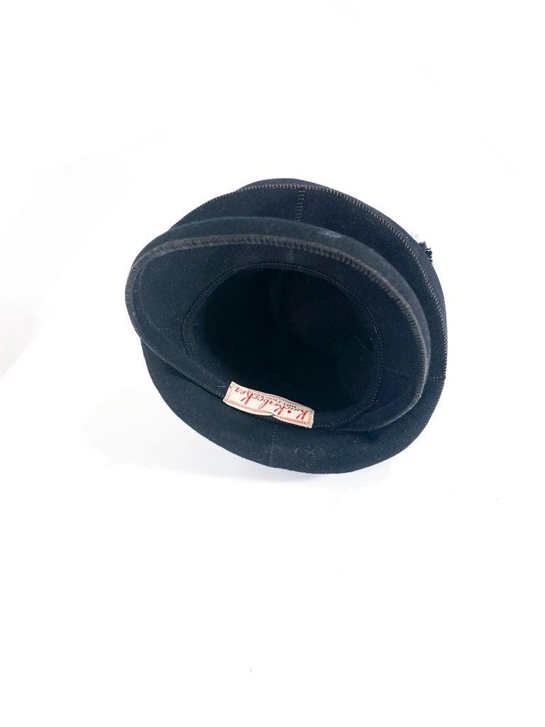 1930s Black Felt Toy Pilgrim Hat  For Sale 1