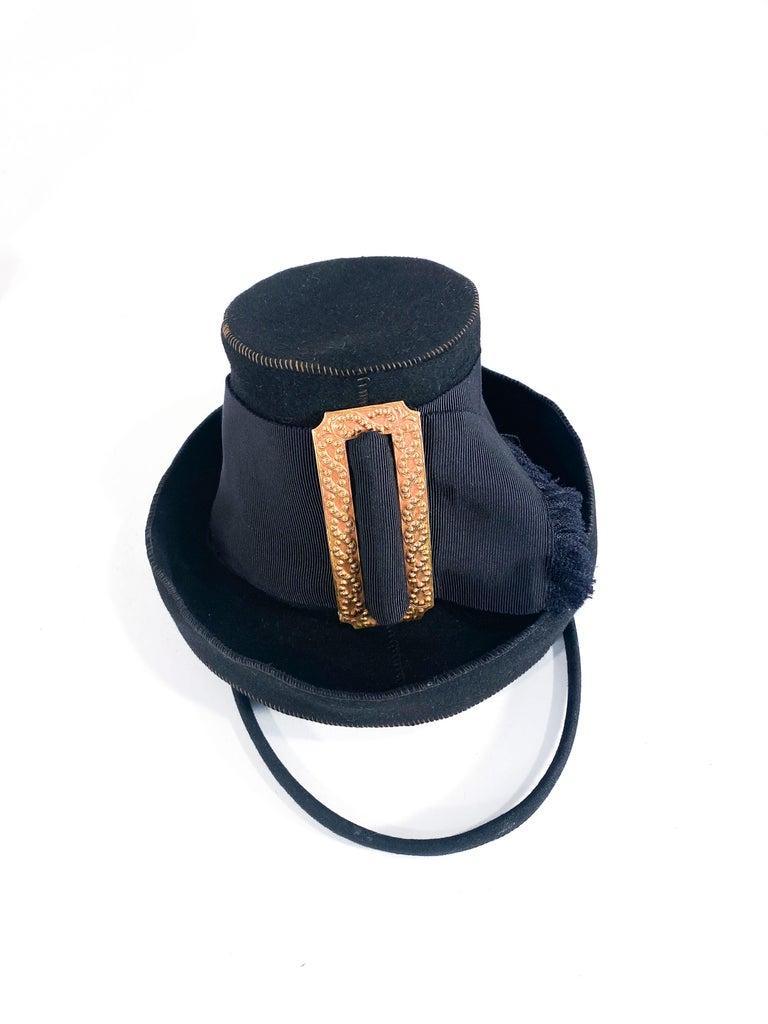 1930s Black Felt Toy Pilgrim Hat  For Sale 2