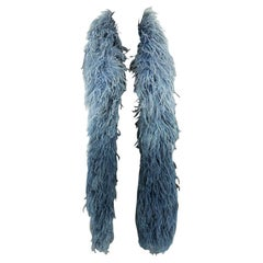 1930s Blue Ombre Feather Boa