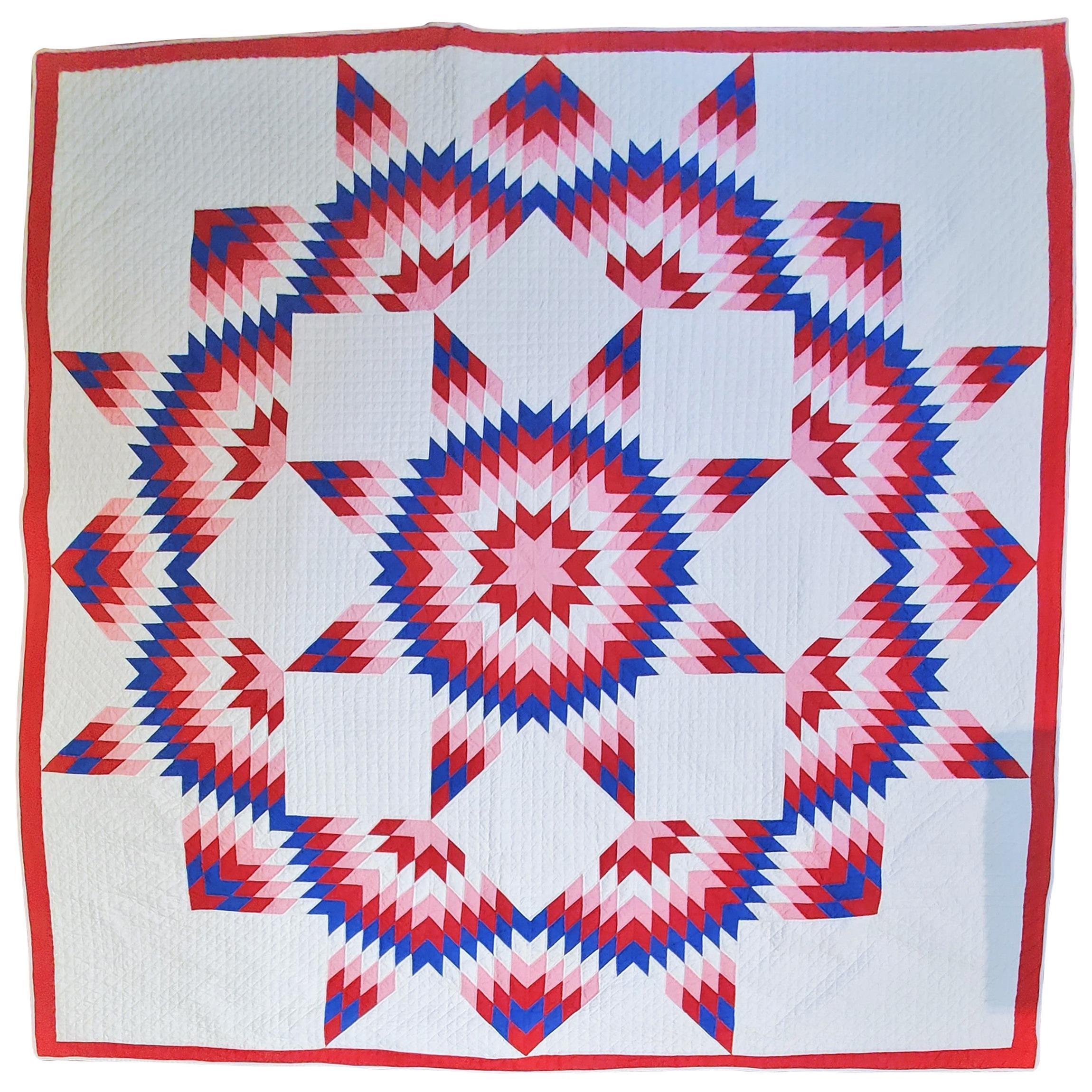 1930s Broken Star Patriotic Quilt
