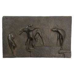 1930s Bronze Plaque by Rhys Caparn