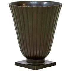 1930s Bronze Vase by Guldsmedsaktiebolaget, GAB
