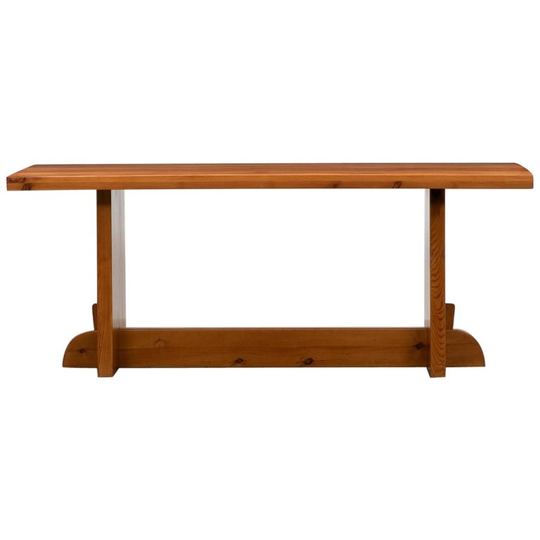 1930s Brown Wooden Pine Dining Table by Axel Einar Hjorth For Sale