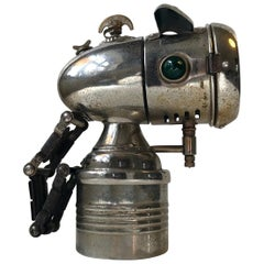 1930s Bullet Carbide Bicycle Lamp from Melas