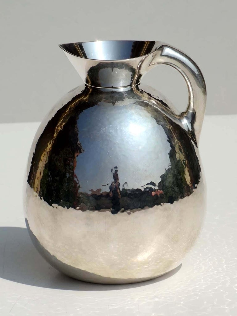 Art Deco silver pitcher vase Perfect condition Weight: 530 g.