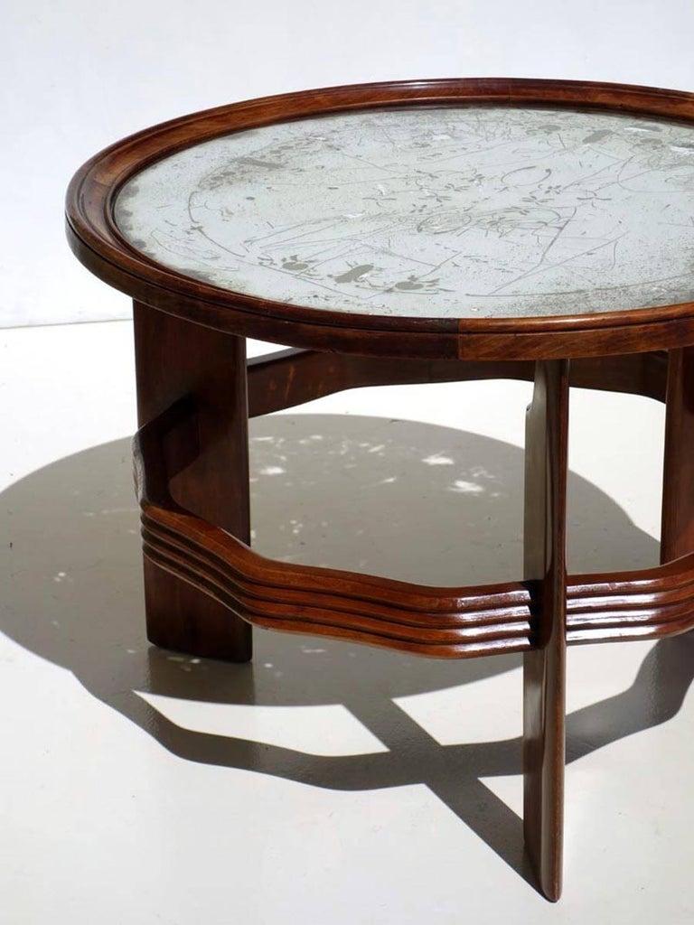 1930s by Vittorio Valabrega Italian Design Art Deco Coffee Table In Excellent Condition For Sale In Brescia, IT