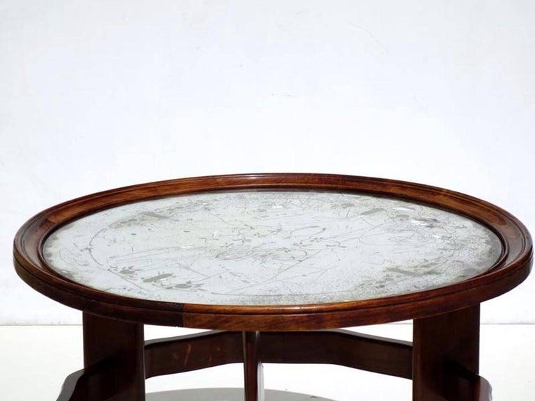 Mirror 1930s by Vittorio Valabrega Italian Design Art Deco Coffee Table For Sale