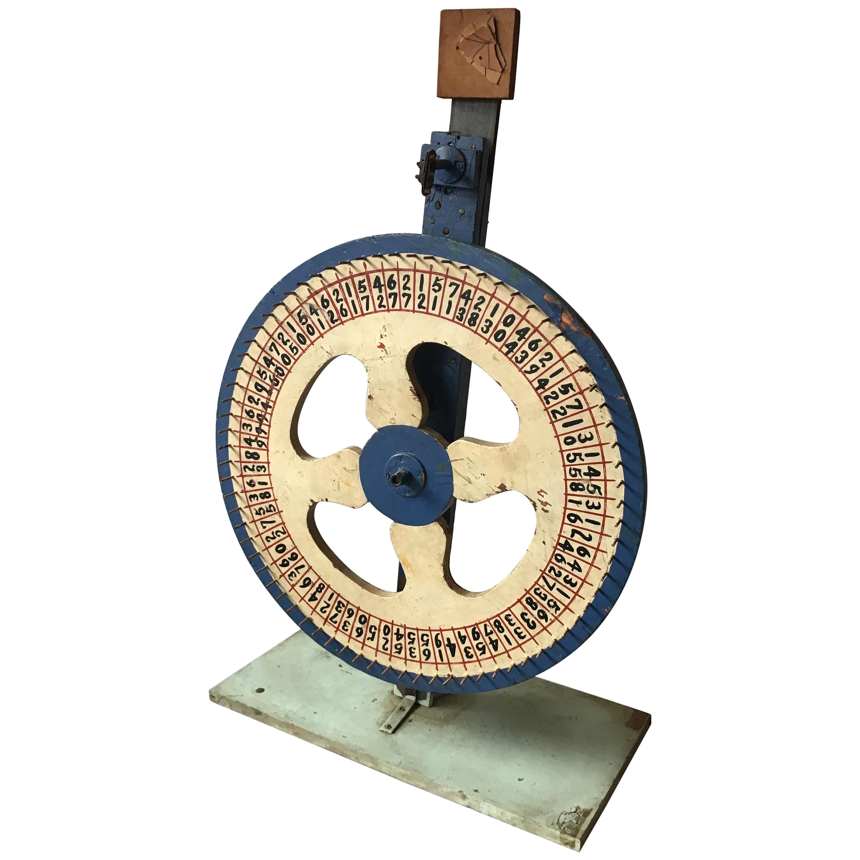 1930s Carnival Game Wheel