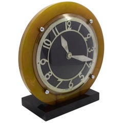 1930s Catalin Bakelite Art Deco English Electric Clock