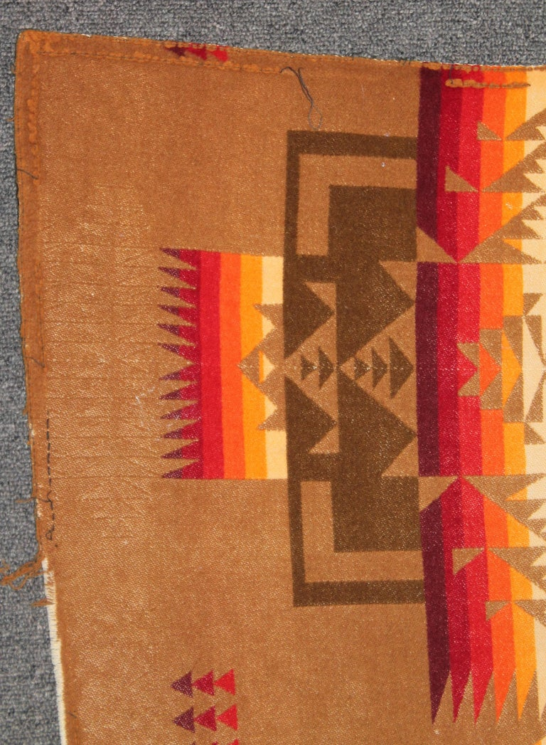 American 1930s Cayuse Double Sided Pendleton For Sale