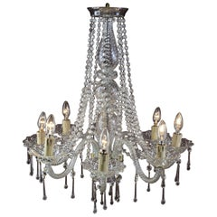 1930s Chandelier in the Style of Marie Terese, Spain