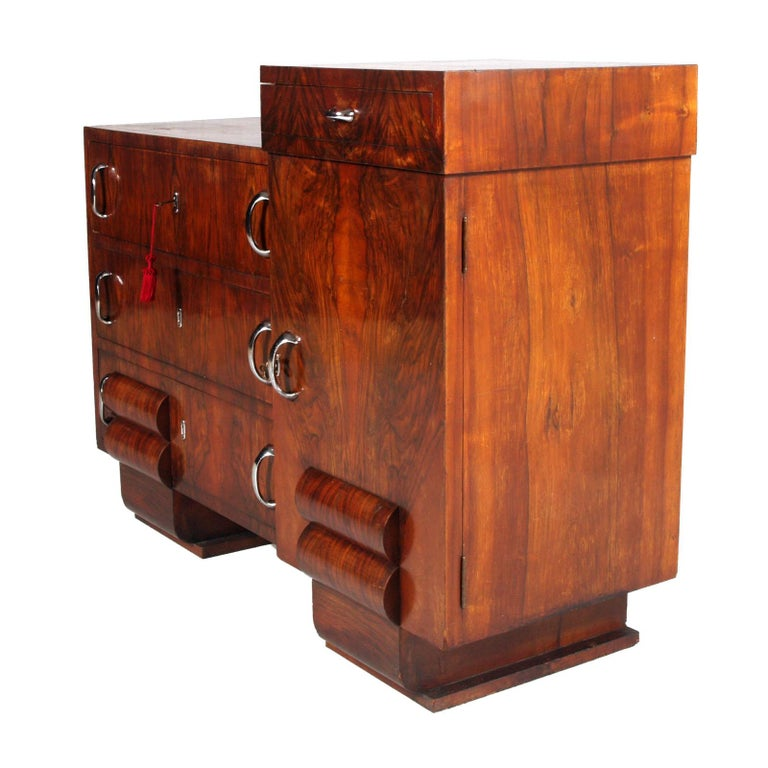 Italian 1930s Chest of Drawers, Commode, Credenza Art Deco by Guglielmo Urlich for Ar.Ca For Sale