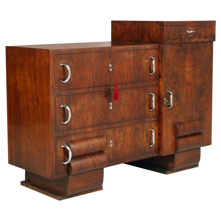 1930s Chest of Drawers, Commode, Credenza Art Deco by Guglielmo Urlich for Ar.Ca For Sale
