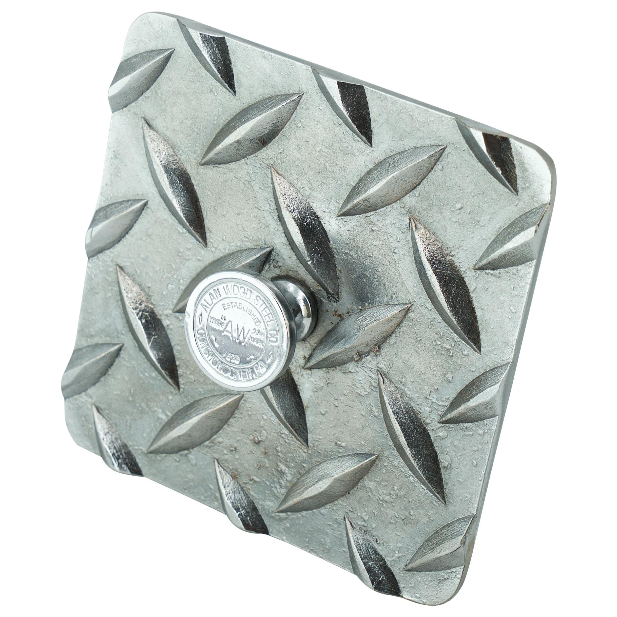 1930s Chrome Diamond Plate Paperweight Curiosity Desk Object Architect Sculpture