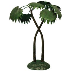 1930s Cold Painted Bronze Palm Tree