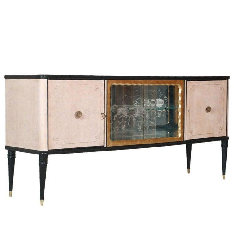 1930s Credenza Buffet Dry Bar Art Deco by Gaetano Borsani