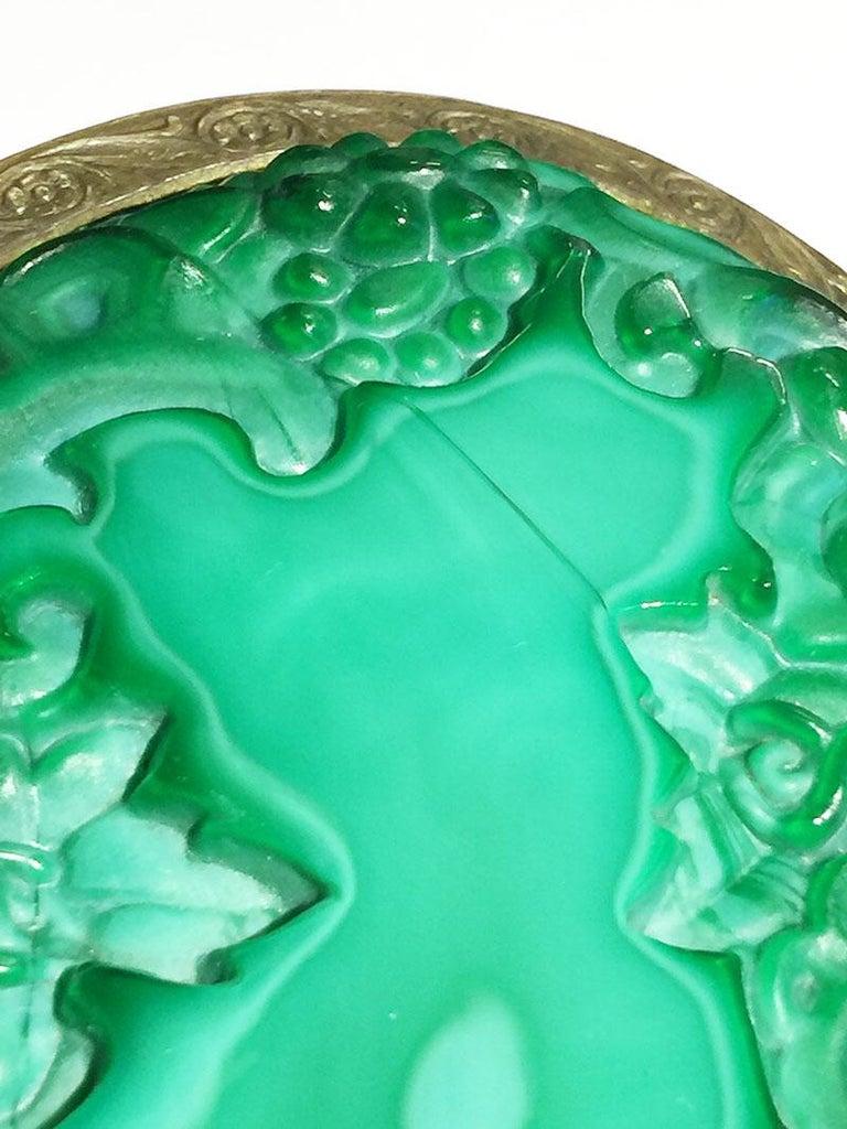 1930s Curt Schlevogt, Ingrid Collection Bohemian Malachite Glass Dresser Set For Sale 6