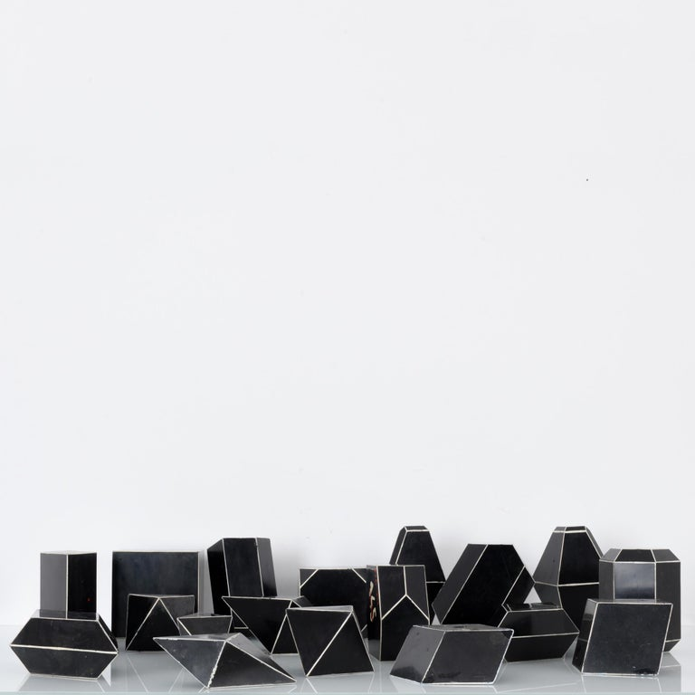 Mid-Century Modern 1930s Czech Bakelite Science Classroom Crystal Models For Sale
