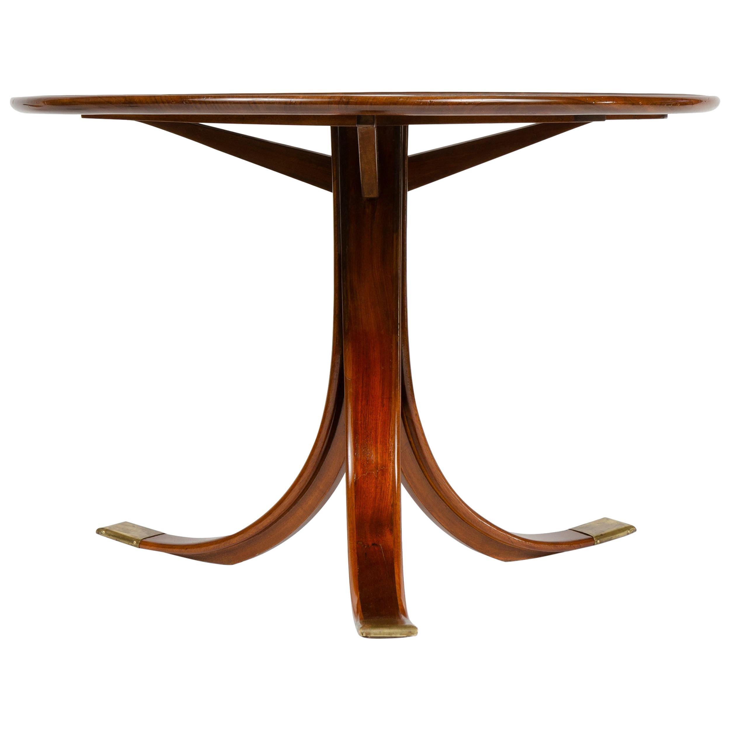 1930s Danish Circular Side Table by Frits Henningsen