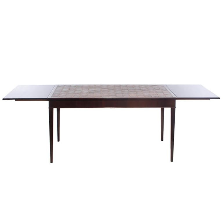 Scandinavian Modern 1930s Danish Rosewood and Tile Dining Table by Frits Henningsen For Sale
