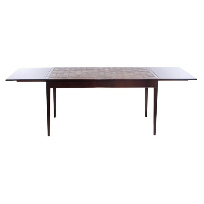 1930s Danish Rosewood and Tile Dining Table by Frits Henningsen