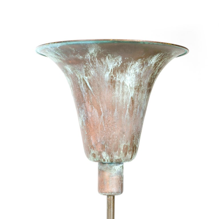 Art Deco 1930s Danish Torchère Floor Lamp by Louis Poulsen For Sale