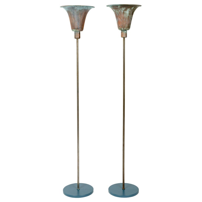 1930s Danish Torchère Floor Lamp by Louis Poulsen For Sale