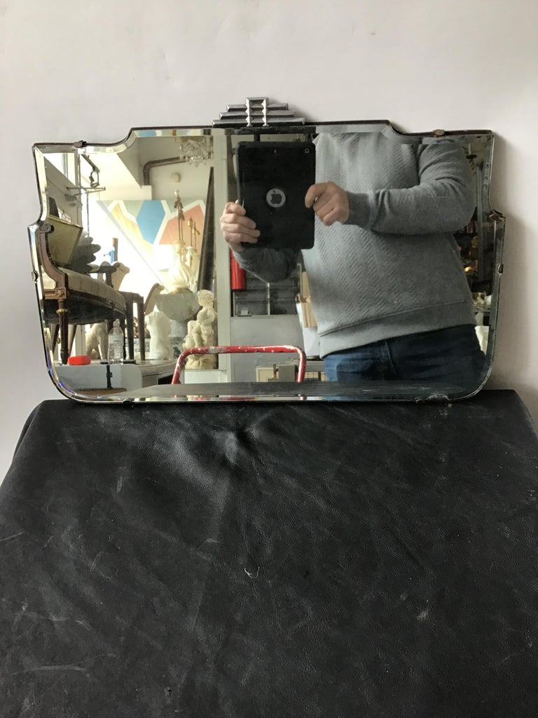 1930s Deco Beveled Mirror For Sale 2