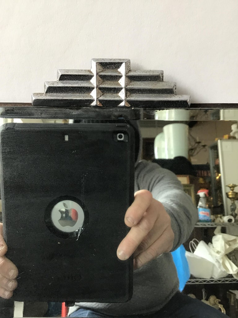 1930s Deco Beveled Mirror For Sale 3