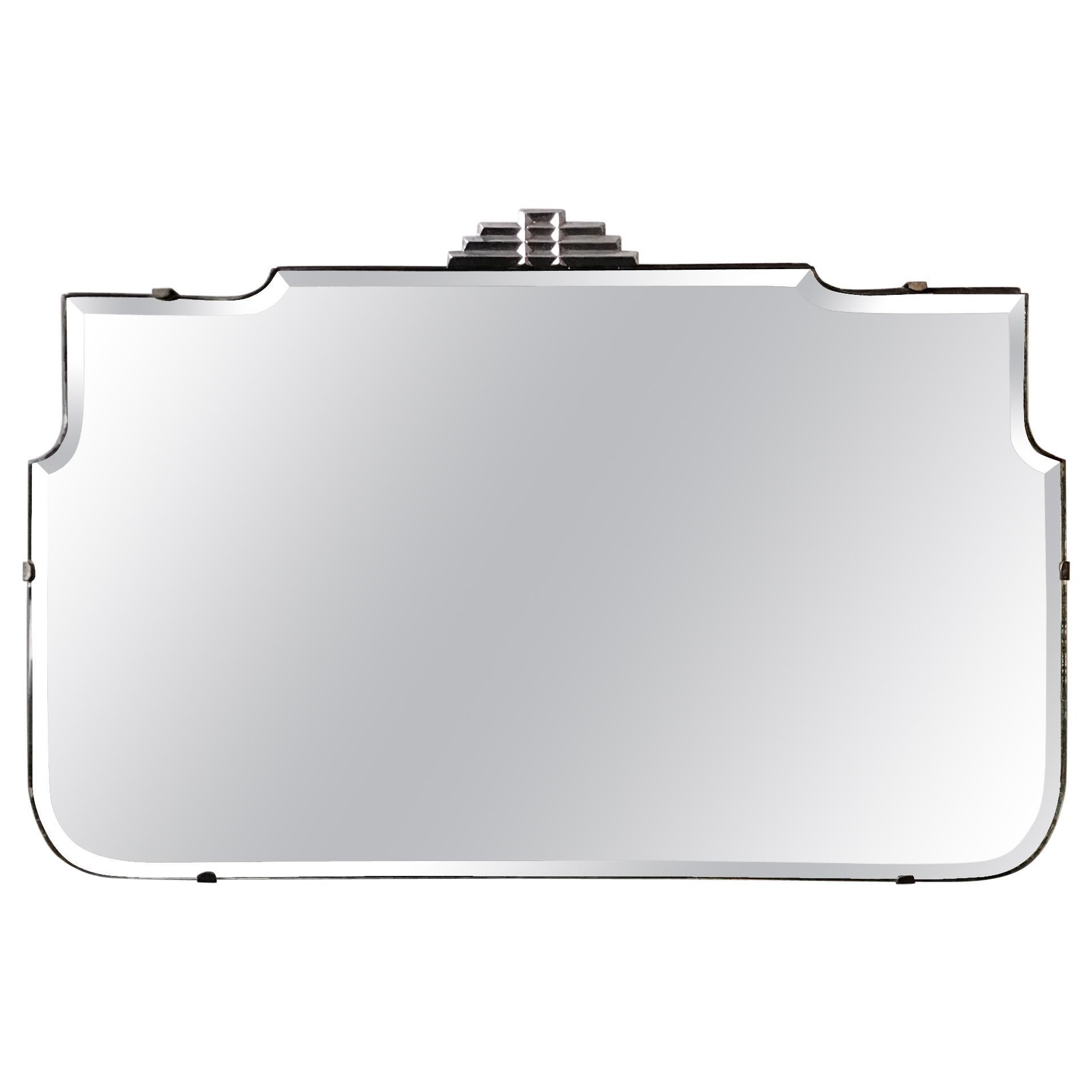 1930s Deco Beveled Mirror