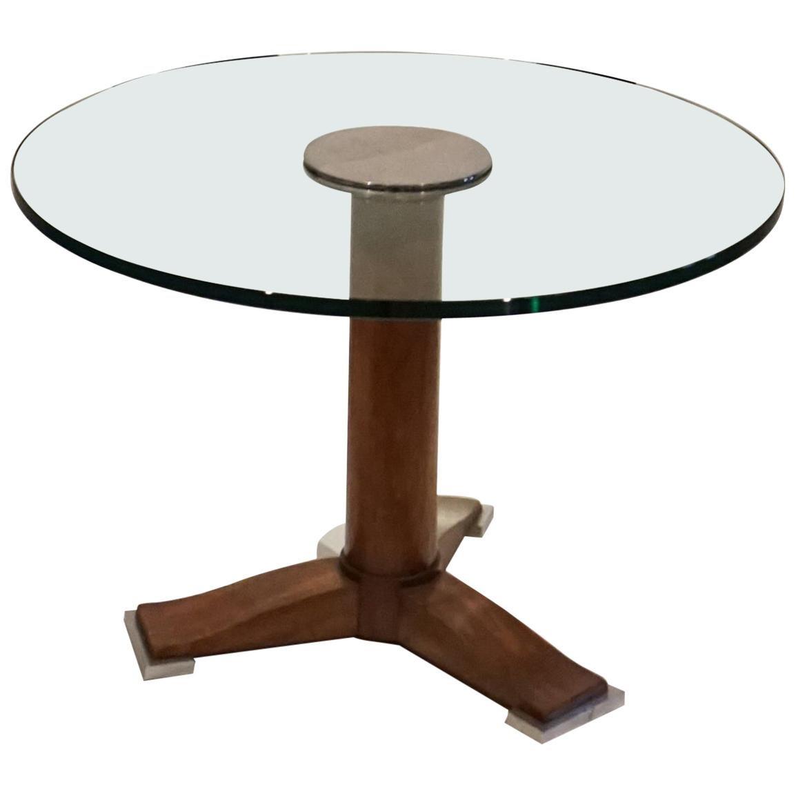 1930s Designer Coffee Table Designed by Jules Leleu