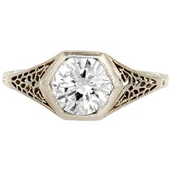 1930s Diamond 1.17 Carat Engagement Ring
