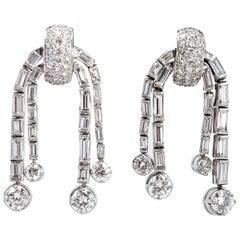 1930s Diamond Ear Pendants
