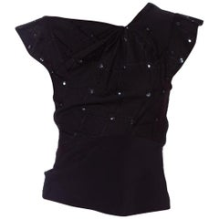 1930's Draped Satin Top With Sequin Beading