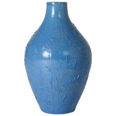 1930s Earthenware Floor Vase from Nittsjö