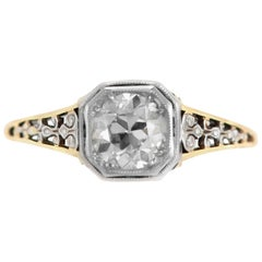 1930s Engagement Ring with 0.71 Center Diamond