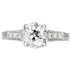 1930s Engagement Ring with Center 1.15 Carat
