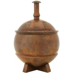 1930s English Bronze Urn by George Adlam & Sons