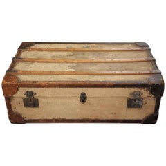 1930s Flat Top Shipping Trunk
