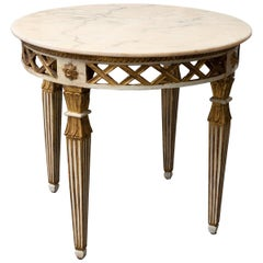 1930s Florentine Marble Side Table