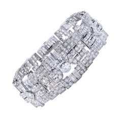 1930s French Art Deco Diamond and Platinum Bracelet