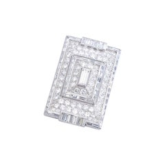 1930s French Art Deco Diamond and Platinum Brooch Necklace
