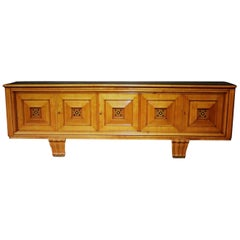 1930s French Art Deco Fruitwood Sideboard
