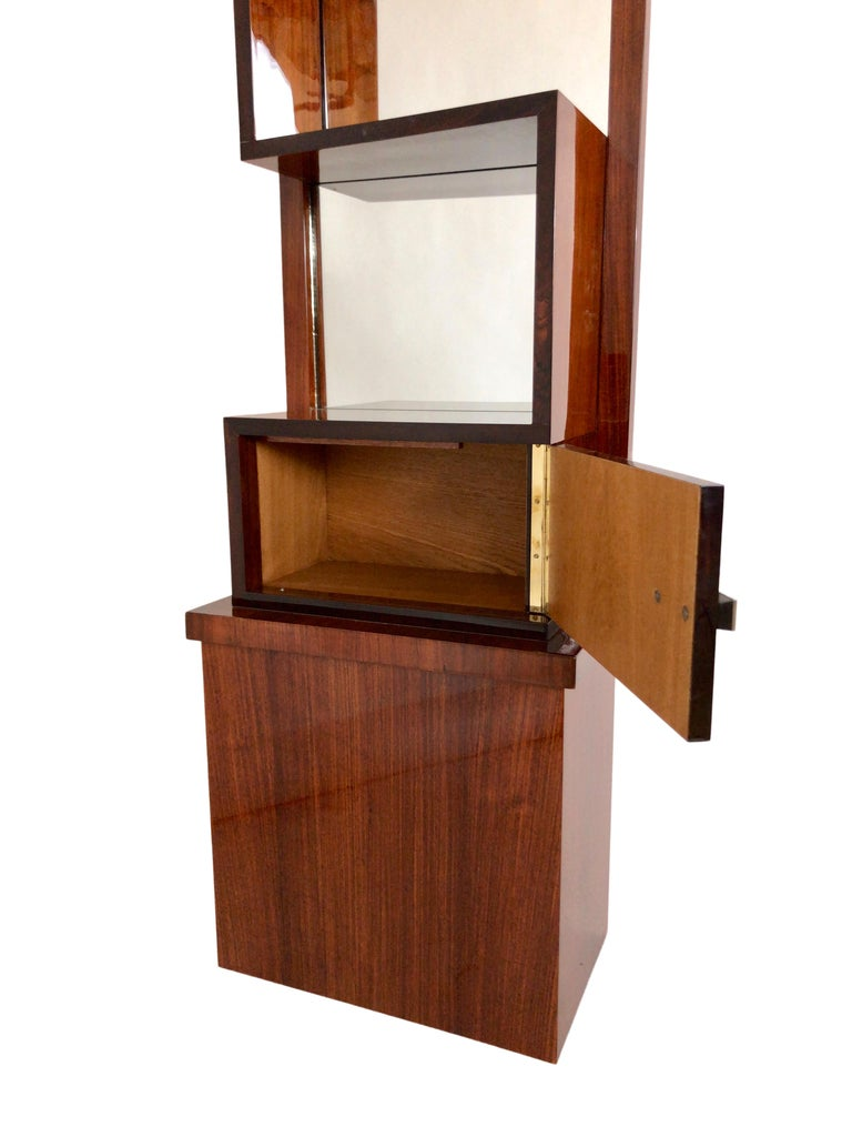 1930s French Art Deco Shelve with Mirror by Auguste Vallin In Good Condition For Sale In Baden-Baden, DE